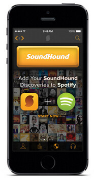 Create a Spotify playlist with the iOS version of SoundHound