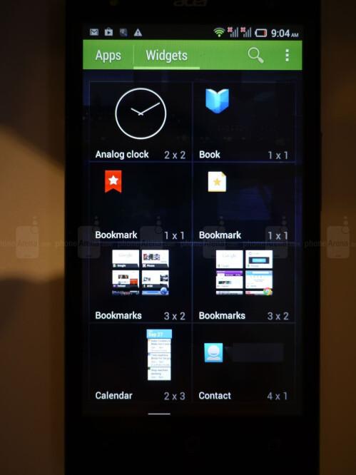 Acer Liquid E3 screenshots