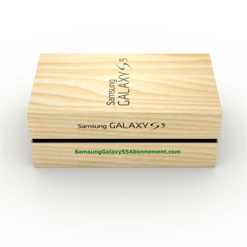 Presumed Galaxy S5 box leaks, flaunts faux-wood finish