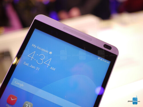 an 8-inch looking HTC One