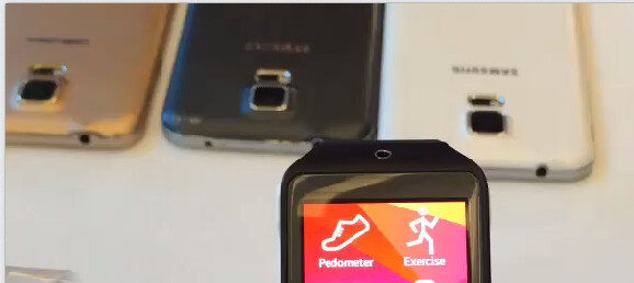 Galaxy S5 back briefly shows up in a hands-on video, reveals mysterious area next to the LED flash