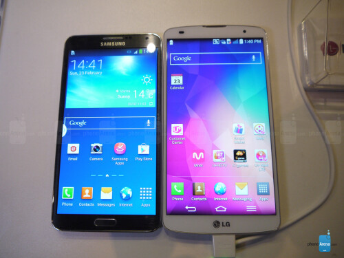 LG G Pro 2 vs Samsung Galaxy Note 3: first look