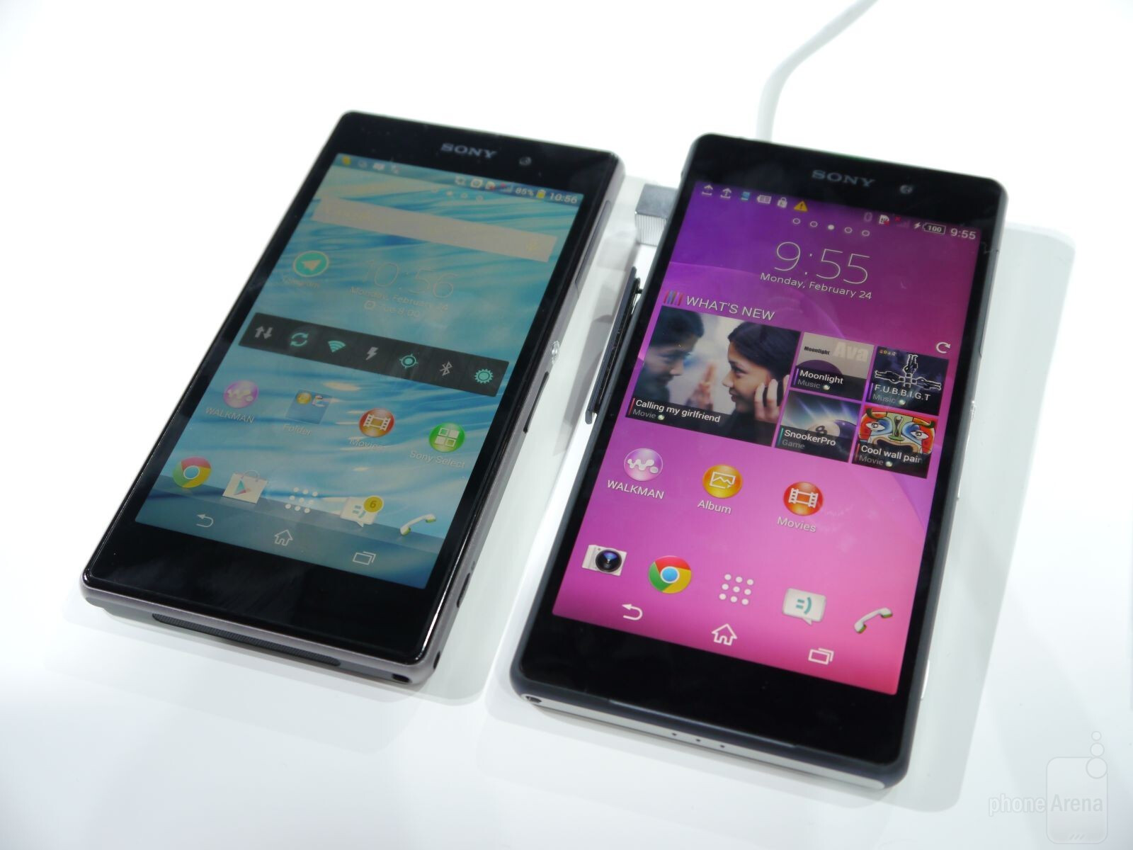 sony xperia z2 vs z1 first look. Black Bedroom Furniture Sets. Home Design Ideas