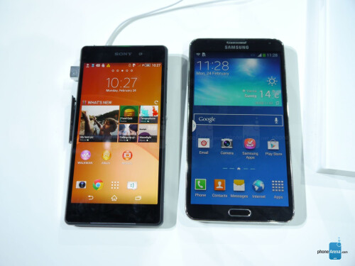 Sony Xperia Z2 vs Samsung Galaxy Note 3: first look