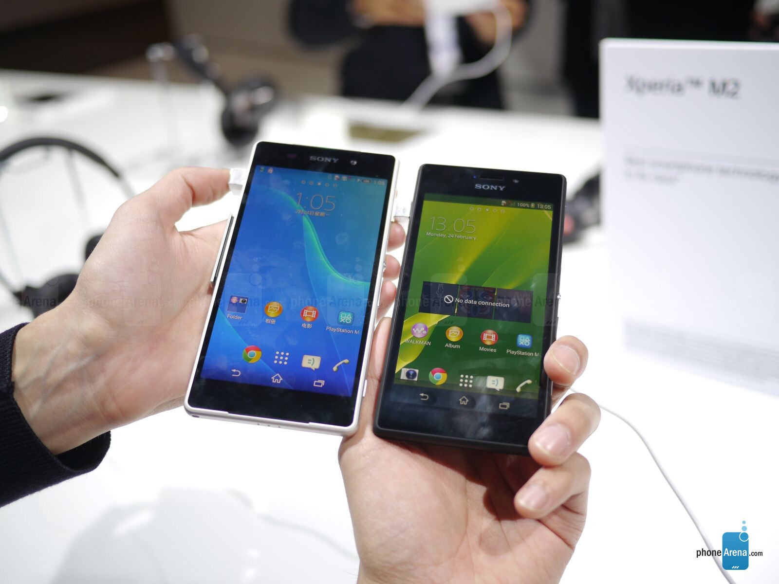 Z2 on the left, M2 on the right