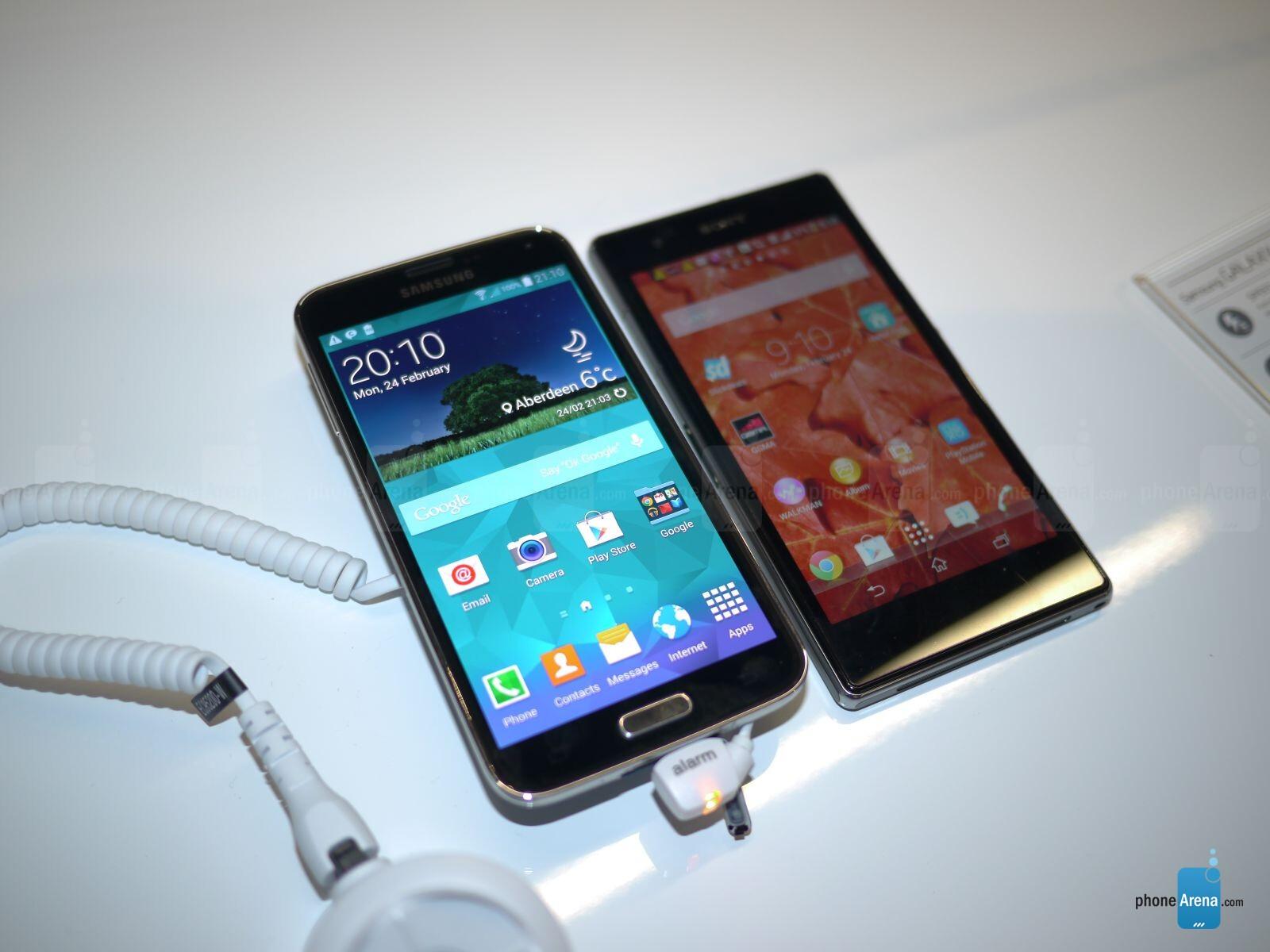 Samsung Galaxy S5 vs Sony Xperia Z1/Z1S: first look ...