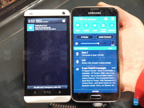 Samsung Galaxy S5 vs HTC One - first look