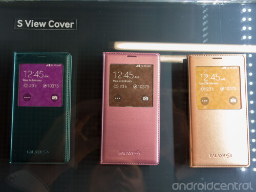 Different color options for the S View case