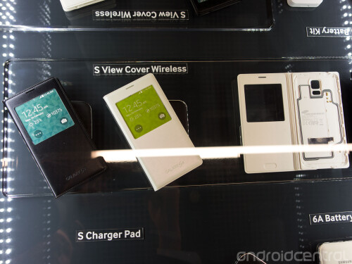 There is an S View cover that adds wireless charging capability to the S5