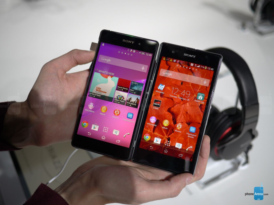 You can see how the display in the Xperia Z2 is improved over its predecessor. - Sony Xperia Z2 versus Sony Xperia Z1/Z1S display comparison