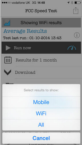 Screenshots from FCC Speed Test - FCC Speed Test app now available for iOS flavored devices