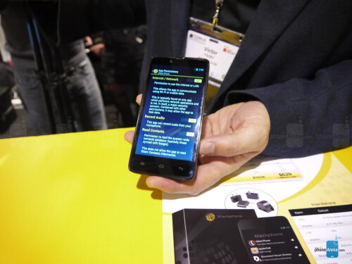 Blackphone demo at MWC 2014