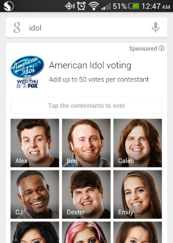 FOX and Google have partnered up on American Idol voting this year - FOX partners with Google for enhanced American Idol voting and other second screen options