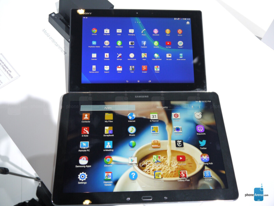 Sony Xperia Z2 Tablet vs Samsung Galaxy Note PRO 12.2: first look