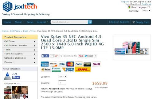 Vivo Xplay 3S Review