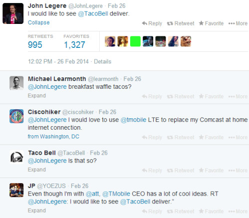 How John Legere keeps in touch