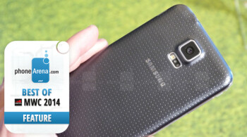 Best innovative feature of MWC 2014: built-in heart rate monitor on the Galaxy S5