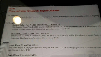 Leaked internal memo reveals March 6th launch date for a pair of hot tablets on Verizon