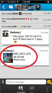 BBM users will soon get to share pictures during multi-person chats - Update to BBM will allow users to share pictures in multi-person chats