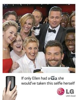 It's LG's turn to razz Samsung - It's LG's turn to razz Samsung for Ellen's Oscar selfie