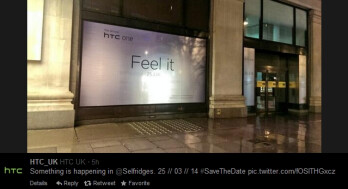 """All New HTC One"" name publicly showcased in London"