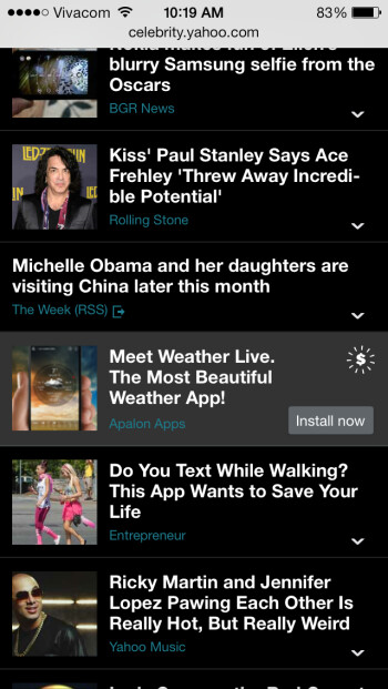 Yahoo! now testing app-install advertisements across its mobile properties