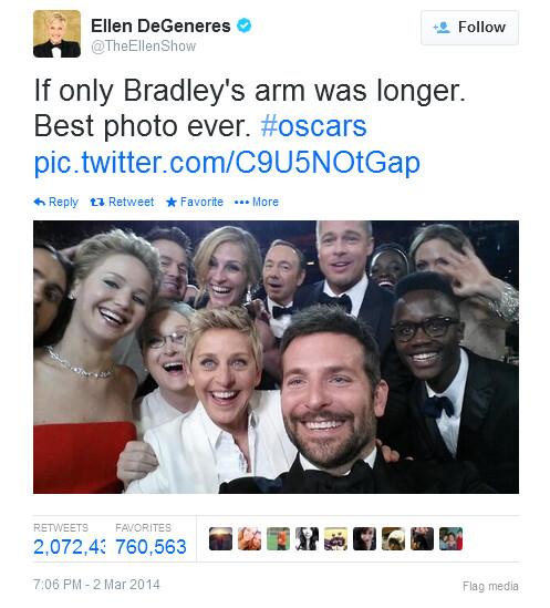 Most popular selfie