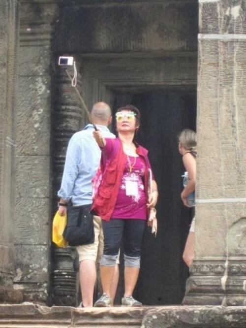 The stick selfie