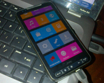 HTC HD2 running the forked Android OS from the Nokia X