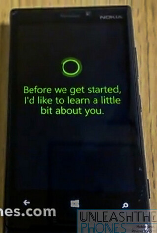 Cortana appears on video