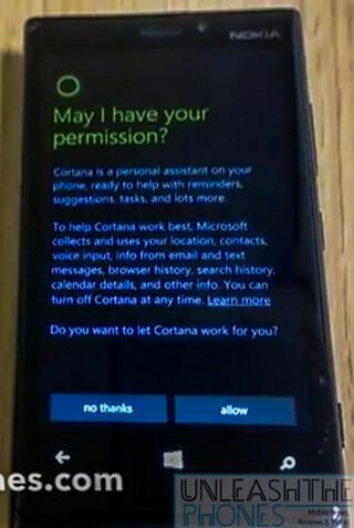 Cortana appears on video