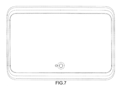 Samsung's design for a tablet with curved margins