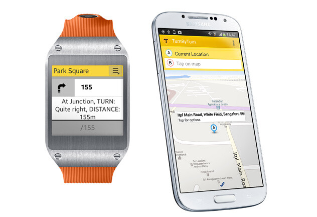 The Samsung Galaxy Gear gets HERE Maps support... in a way