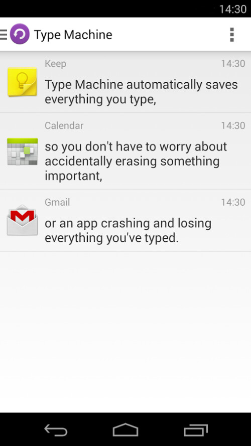 Type Machine for Android