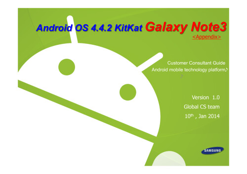 Galaxy Note 3 KitKat update changes