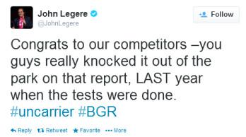 T-Mobile CEO John Legere responds to RootMetrics' report