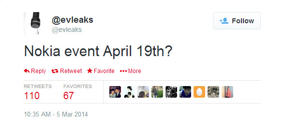 Nokia to host an April 19 event?