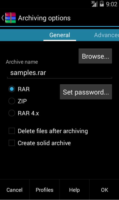 RAR screenshots
