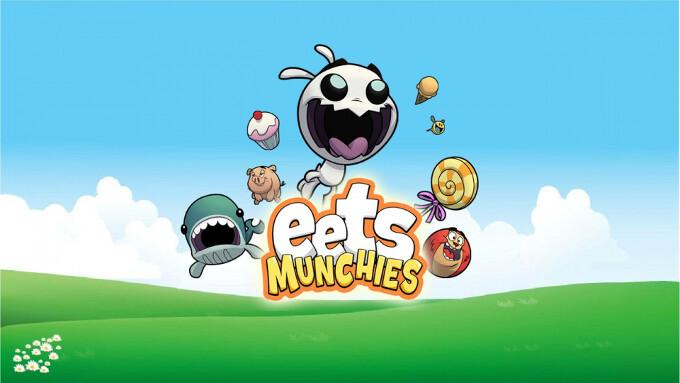 Eets Munchies, a cartoony physics puzzle, arrives on iOS, cake eating ensues