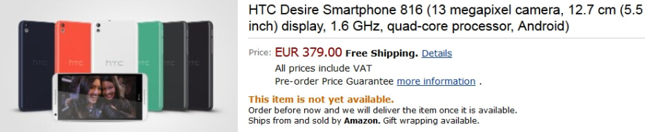 HTC Desire 816 and Desire 610 priced in Europe