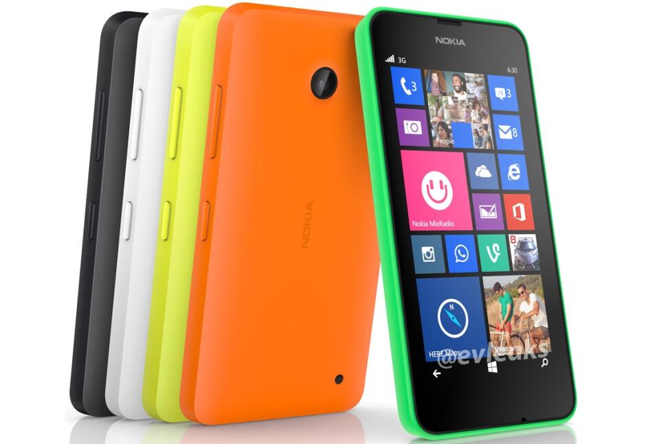 New Nokia Lumia 630 press render reveals five color versions