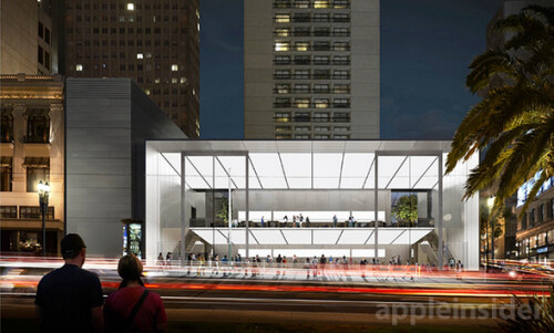 Artist rendering of new San Francisco Apple Store