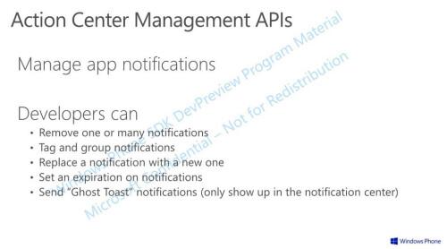 Windows Phone 8.1 Action Center