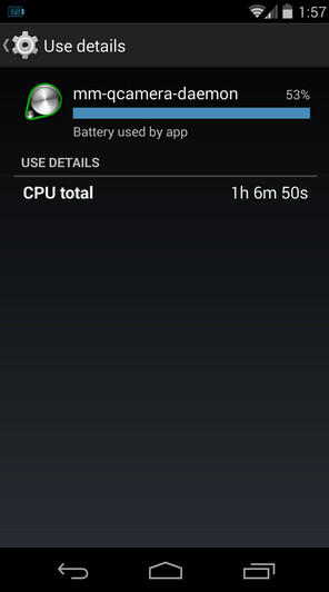 Screenshots from an affected Nexus 5 show off the buggy software process