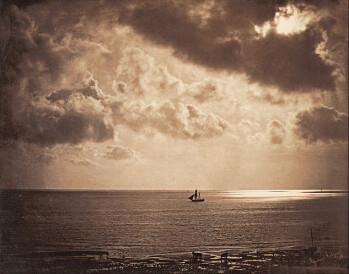An image composed using negatives of different exposures. By Gustave Le Gray, 1856