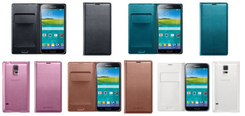 Galaxy S5 official cases show up for UK pre-order