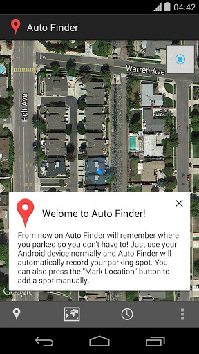 Auto Finder for Android automatically pins your car when parked