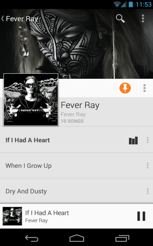 Google Play Music screenshots