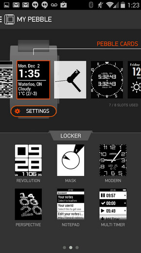 The Pebble app for Android is now available