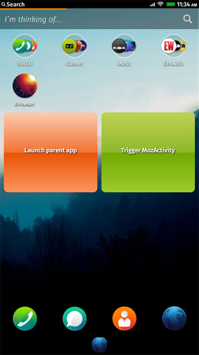 Sony builds widget-type functionality in Firefox OS